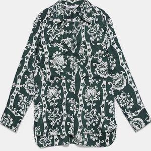 Zara cohort satin floral print set